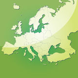Europe vector map Stock Photo