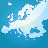 Europe vector map Royalty Free Stock Images