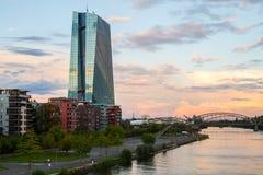 European Central Bank ECB new building Stock Image