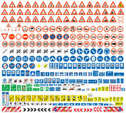European traffic signs collection Royalty Free Stock Photos