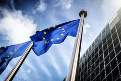 European Union flags Royalty Free Stock Photography