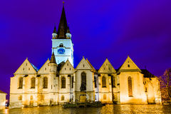 Evangelic cathedral in Sibiu Stock Photo