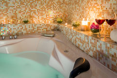 Evening romantic bath Stock Photography