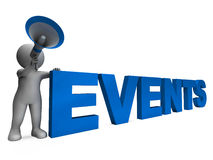 Events Character Means Concert Occasion Events Or Functions Royalty Free Stock Images
