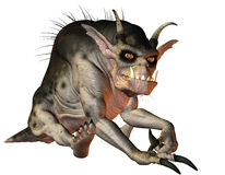 Evil creature sitting Royalty Free Stock Images