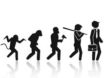 Evolution of the man Stick Figure Pictogram Icon Stock Photo