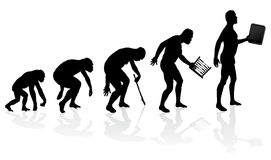 Evolution of Man and Technology Royalty Free Stock Image