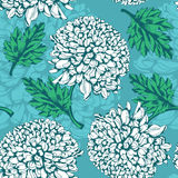 Excellent seamless pattern with chrysanthemum Stock Image