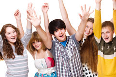 Excited youth Stock Photos