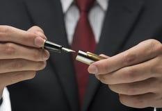 Executive holding pen Stock Image