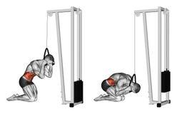 Exercising. Curling body via block simulator Stock Photography
