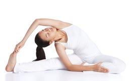 Exercising yoga Stock Photography