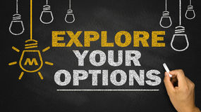 Explore your options Royalty Free Stock Image