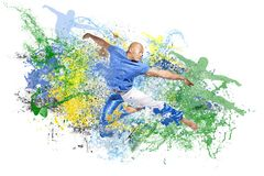 Explosion of dance Royalty Free Stock Photography