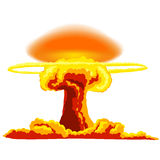 Explosion nucléaire avec la poussière Photographie stock libre de droits
