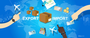 Export import global trade world map market international Royalty Free Stock Photos