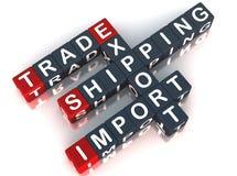 Export import trade Stock Photo