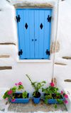 Exterior of Greek house Royalty Free Stock Images