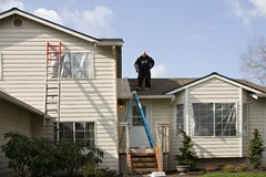 Exterior House Painting Royalty Free Stock Photography