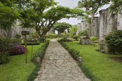 Exterior of the ruins of the Santiago Apostol cathedral in Cartago, Costa Rica. Stock Images