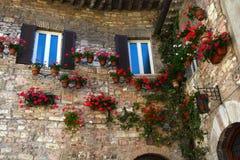 Exteriour wall of Italian house Royalty Free Stock Photos