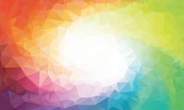Färgrik regnbågepolygonbakgrund eller vektor Arkivbilder