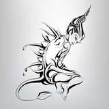 A fabulous creature. vector illustration Royalty Free Stock Images