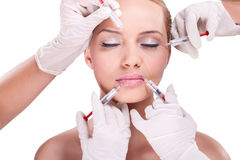 Facial care – Botox Royalty Free Stock Photography
