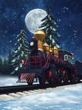 Fairytale train at night Royalty Free Stock Images
