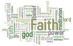 Faith Word Cloud Royalty Free Stock Photo
