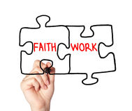 Faith work concept Royalty Free Stock Images