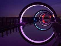 The Falkirk wheel at Night Royalty Free Stock Images