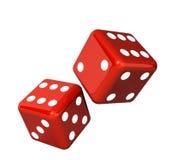 Falling dice for gambling Royalty Free Stock Photo