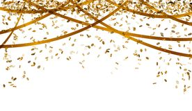 Falling gold confetti Royalty Free Stock Images