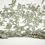 Falling letters Royalty Free Stock Photos