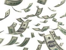Falling money Royalty Free Stock Image