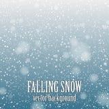 Falling snow Stock Photos