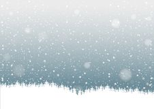Falling Snow Royalty Free Stock Photo