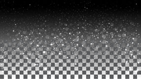 Falling snow on a transparent background Royalty Free Stock Photos