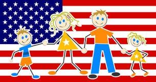 Família patriótica Imagem de Stock Royalty Free