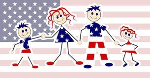 Familia patriótica Fotografía de archivo libre de regalías