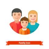 Famille heureux avec l'enfant Photo stock