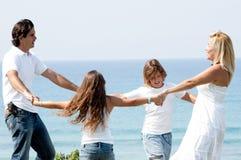 Family enjoying beautiful day Stock Photos