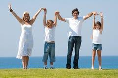 Family fun outdoors Royalty Free Stock Photo