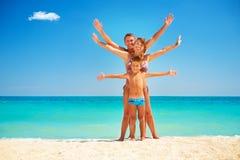 Family Having Fun at the Beach Royalty Free Stock Photo