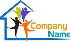 Family house logo Royalty Free Stock Image
