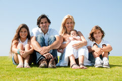 Family portrait outdoors Royalty Free Stock Images