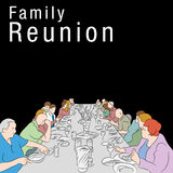 Family Reunion Meal Stock Photo