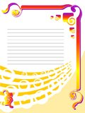 Fancy postcard border Royalty Free Stock Images