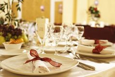 Fancy table arrangement Royalty Free Stock Images